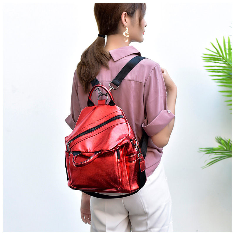 Tuladuo Luxury Backpack Female High Quality Pu Leaher Bags for Women 2018 Travel Backpack Multifunction Mochila Small Schoolbag ceyes car styling car emblems case for nissan nismo juke x trail qashqai tiida teana car styling auto cover accessories 4pcs lot