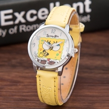 Totoro Design Kids Leather Quartz Watch