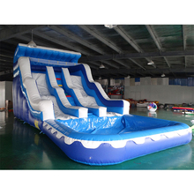 цена на Commercial inflatable water slide jumping slide inflatable bounce with inflatable pool combo for sale