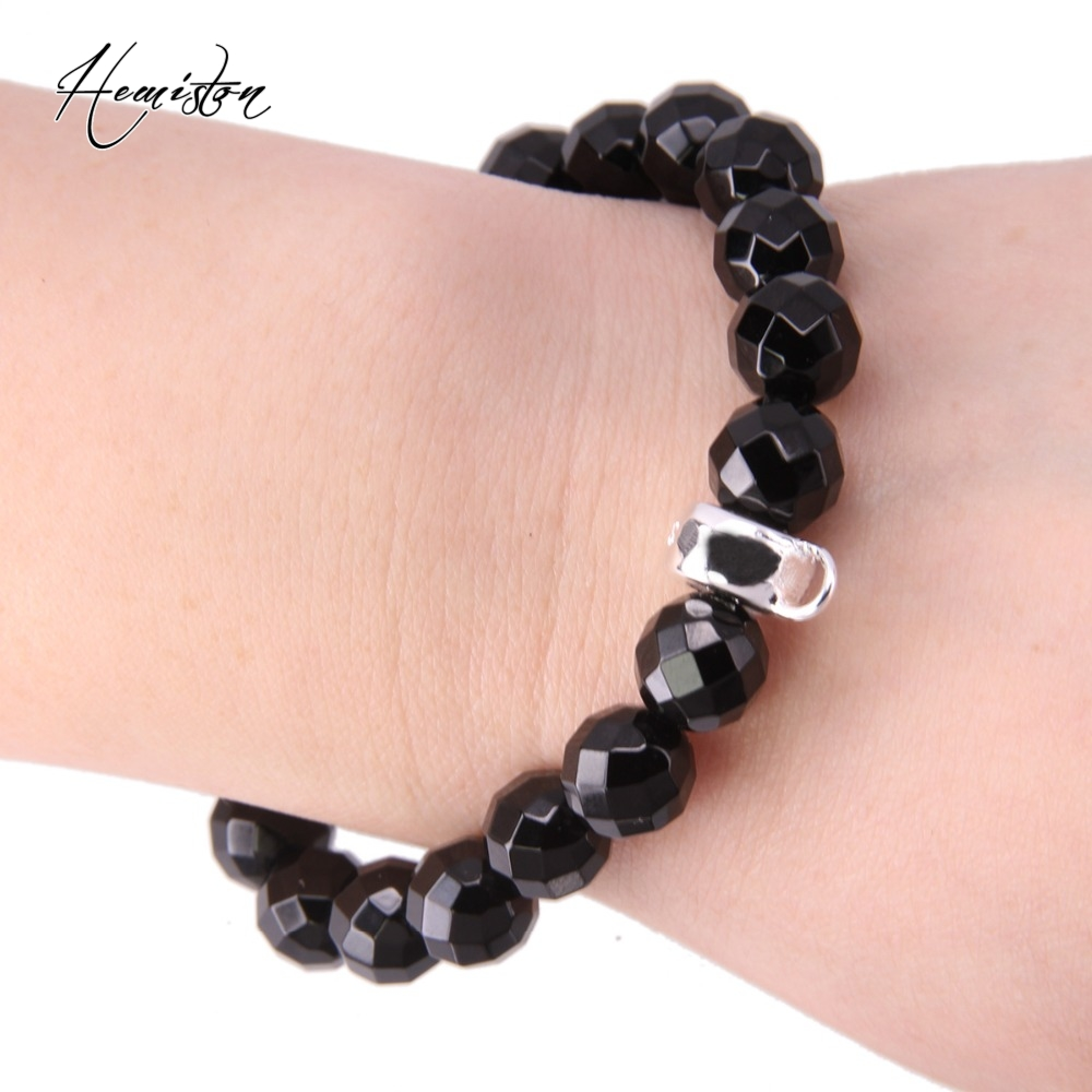 bracelets for facet beads thomas ts onyx jewelry black charm style item men with fine latch crystal strand women european a bracelet carrier from in circle bead