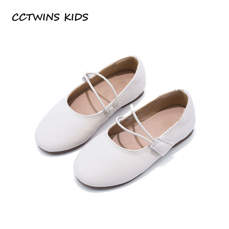CCTWINS KIDS 2018 Spring Baby Princess Dance Shoe Children Fashion Genuine Leather Flat Toddler Girl Party Mary Jane G1628 wendywu spring autumn children fashion pu leather heeled shoe for baby girsl rhinestone princess dance shoes gold toddler