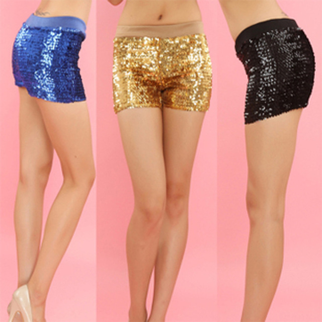 Striped Sequin Shorts A pair of woven shorts featuring a striped QUICK VIEW Lace Ruffle Shorts A pair of sheer lace shorts featuring contrast QUICK VIEW Contrast Dolphin-Hem PJ Shorts A pair of knit PJ shorts featuring an QUICK VIEW Satin-Trim Marled PJ Shorts.