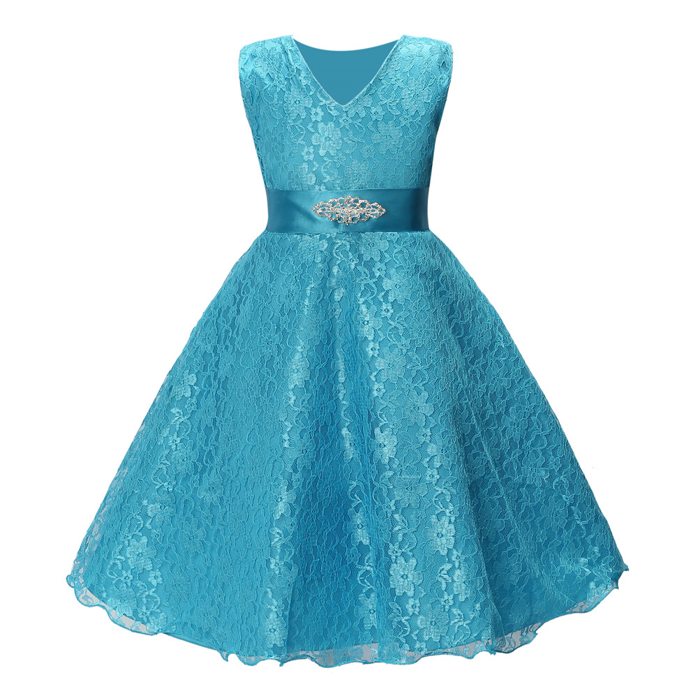 Online Shop summer girls party dress 2017 new designer children ...