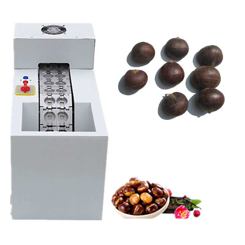 цена на 2017 new model chinese chestnut nut cutter automatic chestnut mouth opening machine