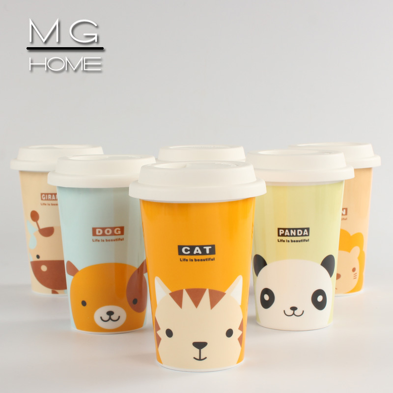 Mg Home Cute Cartoon Animals Ceramic Cups Of Starbucks