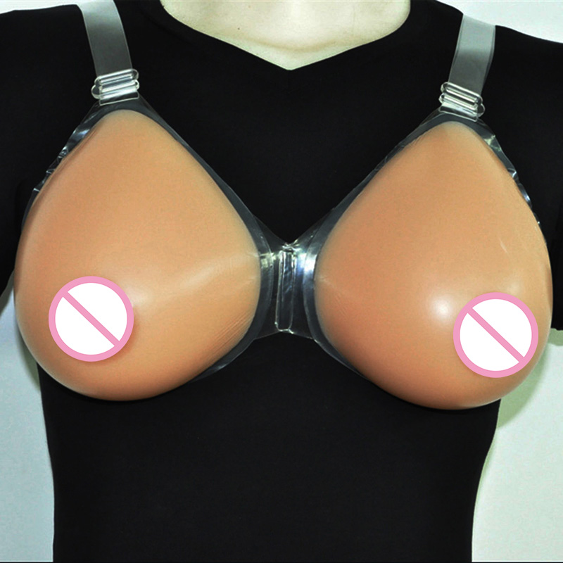 False Breast Crossdressing Transgender Artificial Breasts Drag Queen Silicone Breast Forms Shemale Fake Boob Dark Beige 1600g silicone false breast crossdressing artificial breasts drag queen breast forms shemale fake boob mastectomy bras brown 1400g