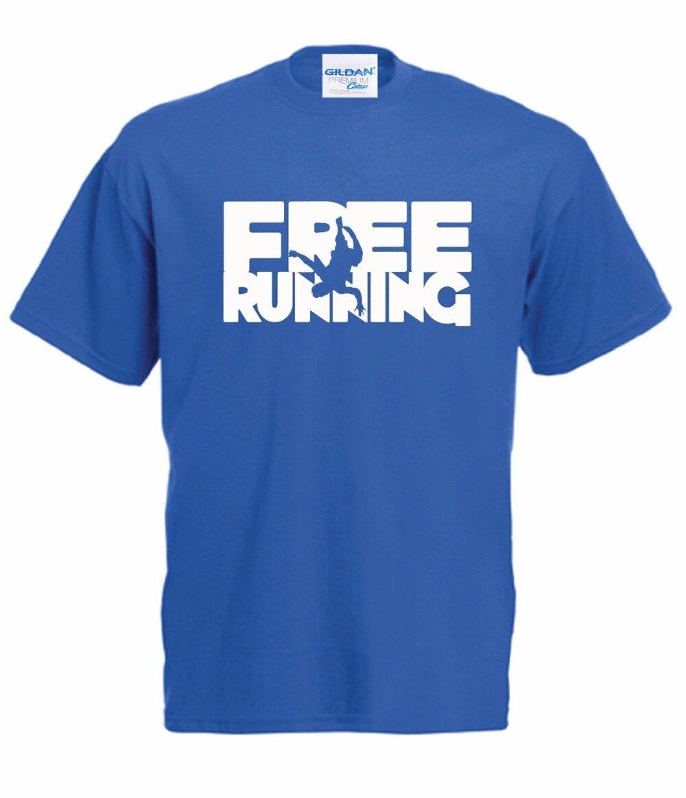 New 2018 Summer Style T-Shirt Man Print T-Shirt Hipster Parkour Gratuit De Course Urban Sauteur Escalade Anniversaire T shirt