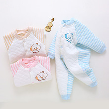 Autumn Winter Infant Warm Open Gear Clothes Newborn Clothes