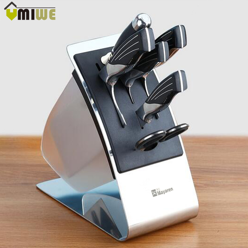 online buy wholesale kitchen knife rack from china kitchen knife kitchen knife block knives holder organizer metal rack storage block premium stainless steel knife rest shelf