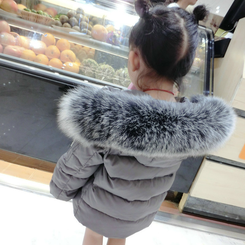 Kids Down Jacket Boys Girls 90% White Duck Down Coat Children Fox Raccoon Fur Hooded Baby Thicken Warm -30 Degrees Clothes Suit kindstraum 2017 super warm winter boys down coat hooded fur collar kids brand casual jacket duck down children outwear mc855