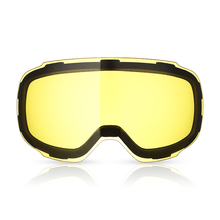 Double Layers Lens Ski Goggles Professional Glasses Replacement Yellow Use at Night Weak Light Anti-fog UV-400