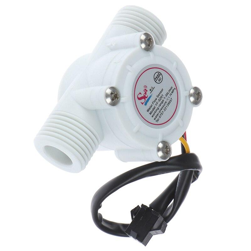Расходомер, счетчик, датчик, эффект управления, расходомер, зал 1-30л/мин для Arduino 1/2 '', датчик расхода воды, переключатель