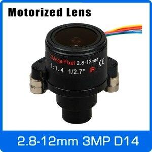 Image 1 - Motor 3megapixel varifocal cctv lente 2.8 12mm d14 montagem com zoom motorizado e foco para 1080p/3mp ahd/câmera ip frete grátis
