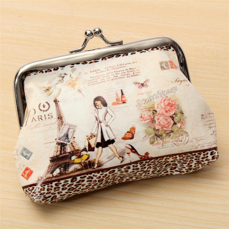 Hot Women Cute Coin Purse Top Leather Character Small Wallet Girls Change Pocket Pouch Hasp Keys Bag Metal Bar Opening New new brand mini cute coin purses cheap casual pu leather purse for coins children wallet girls small pouch women bags cb0033