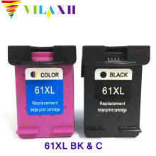 vilaxh 2PK Black & Color Cartridge For HP 61 61xl ink cartridge 1000 1050 2050 3050 1510 printer for hp61