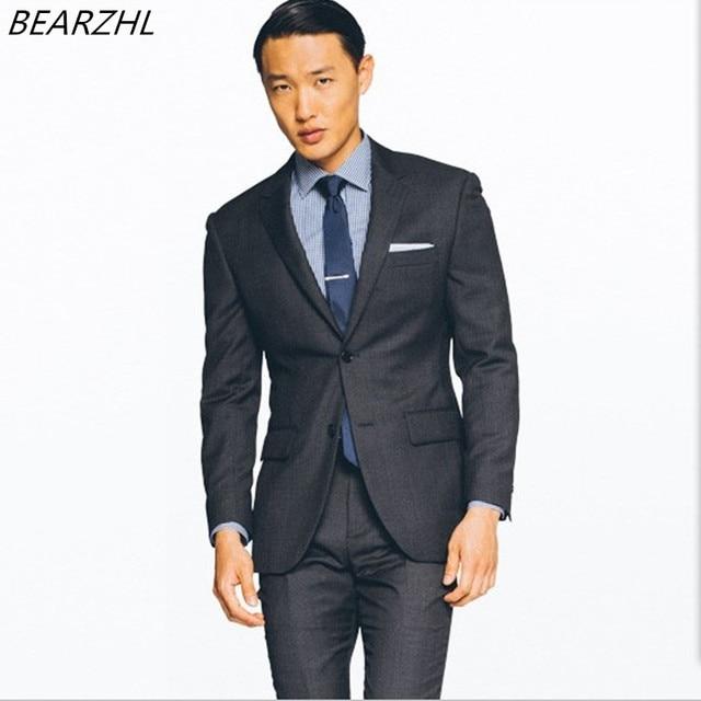 5295a6d4a9edd Trajes para hombre baratos traje de negocios novio esmoquin para la boda  Vestido slim fit trajes