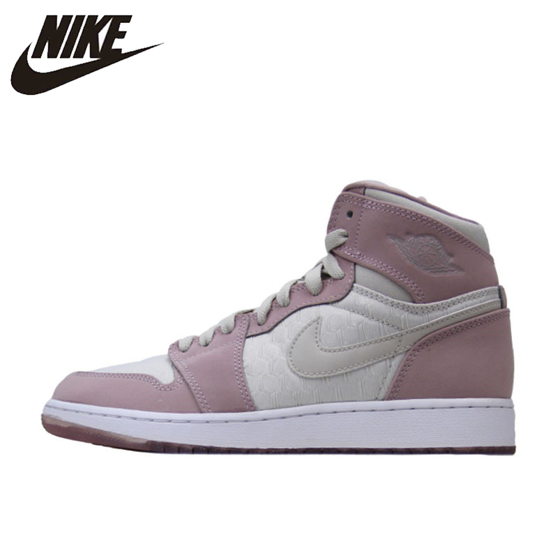 bbf3e64af3c19a Nike Jordan 1 Retro High GS AJ1 Women s Breathable New Arrival Authentic Basketball  Shoes Sports Sneakers