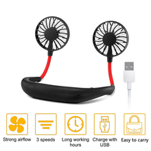 Mini Fan Wearable Air-Cooler Sports-Neck Hands-Free Outdoor-Sports Summer USB for 3-Speeds