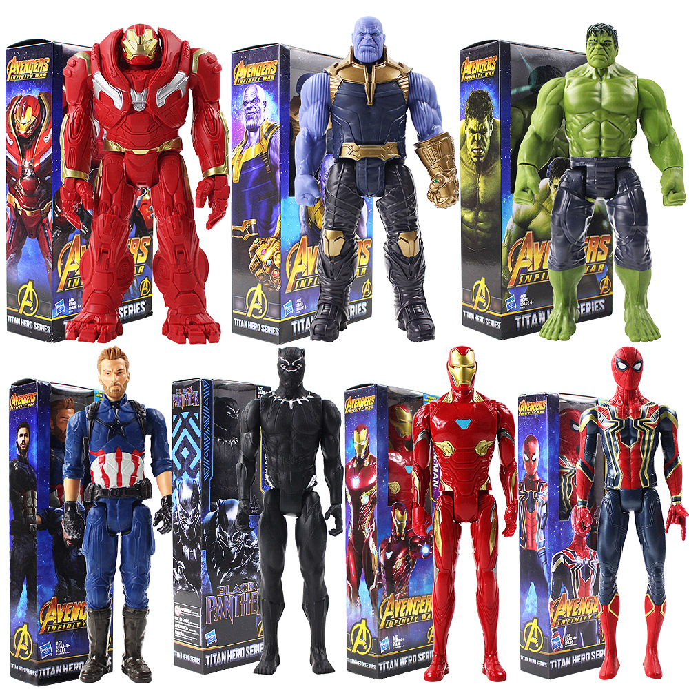 "2Pcs Avengers Infinity War Titan Hero Series Thanos /& Hulk Action Figure Toys 7/"""