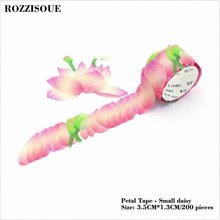 Japanese Petal Cute Flower Washi Tape DIY Decoration Scrapbooking Planner Masking Tape Adhesive Tape Label Sticker Stationery недорого