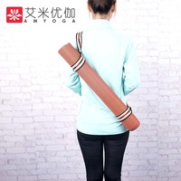 2mm thickness anti sliding strong natrual rubber travel yoga mat with carry bag