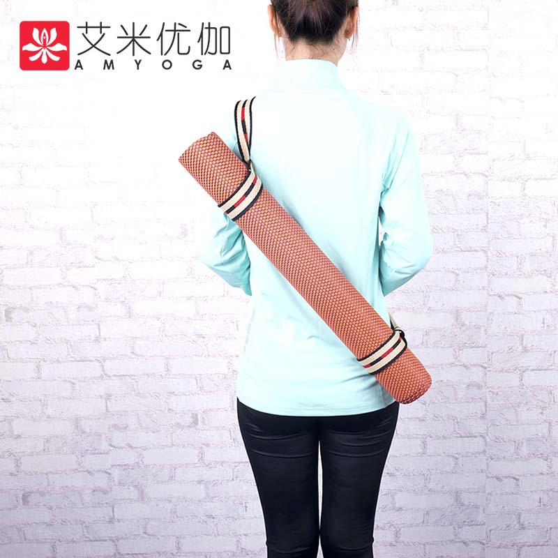 2mm thickness anti sliding strong natrual rubber travel yoga mat with carry bag in Yoga Mats from Sports Entertainment