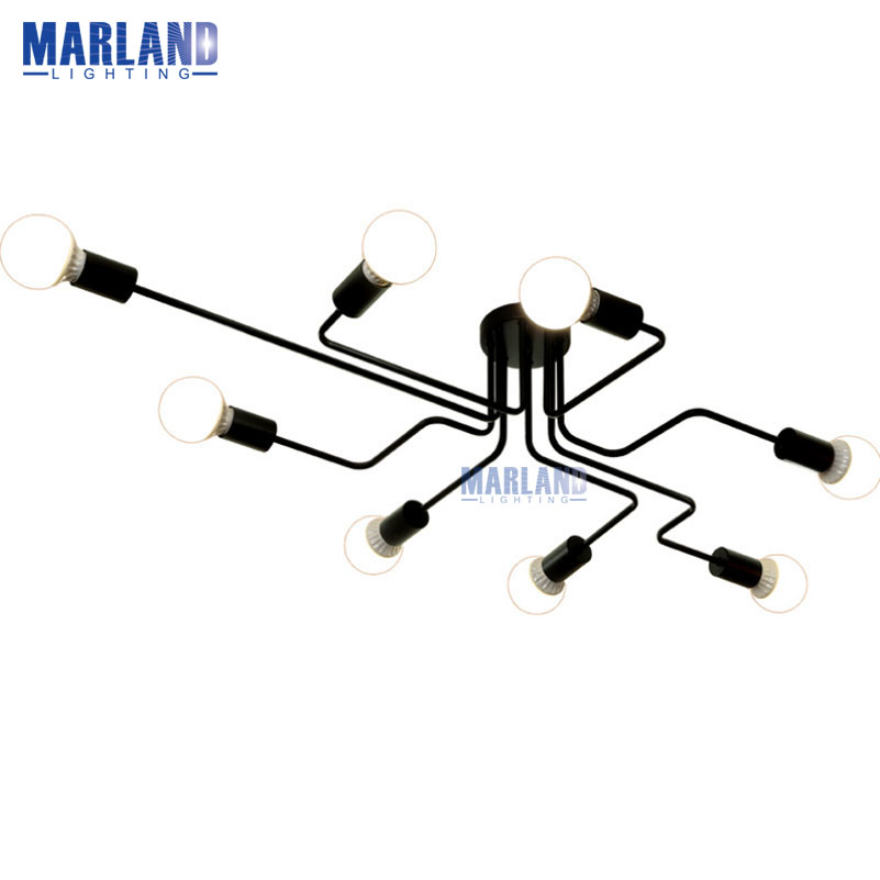 LED Nordic Ceiling Lighting American Industrial Metal Ceiling Light Living Room Dining Room Indoor Lights For Home House(C5090)