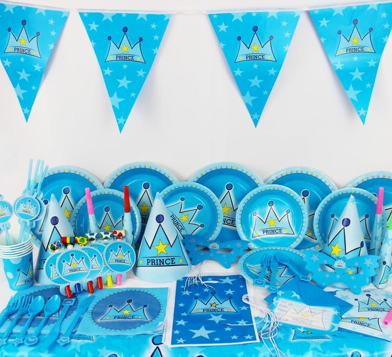 78pcs2015 New Kids Birthday Party Decoration Set Birthday prince