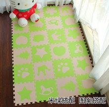"Marjinaa EVA New 10pcs 11.8""*11.8"" Puzzle Floor GYM Soft Kids Foam Mat Beige Green baby play puzzle number letter cartoon foam(China)"