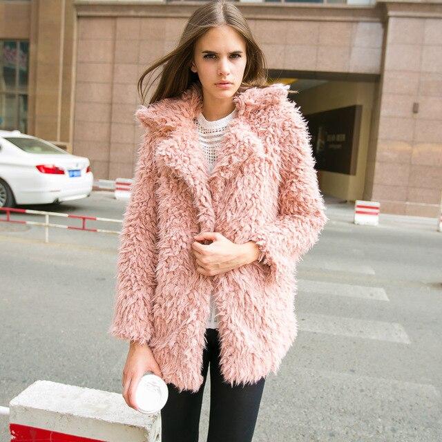 Fashion 2015 berber fleece coat-in Fur & Faux Fur from Women's ...