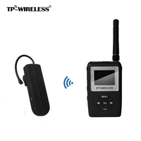 TP WIRELESS UHF Microphone Wireless Tour Guide System Earhook Receiver Simulataneous Translation Conference 1 Transmitter & N Rx