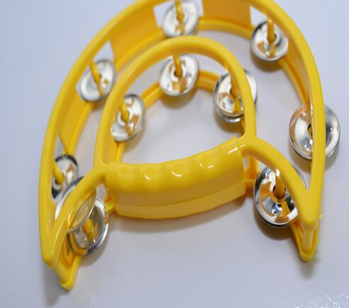 10pcs New Plastic half bell tambourine children dancing bells puzzle toys