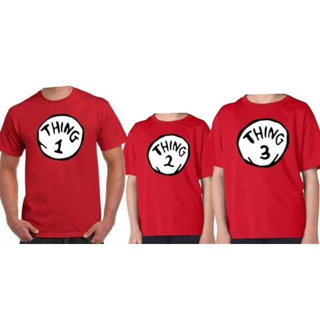 New Family Look T Shirt Men Best Gift Thing 1 Thing 2 Dr Seuss