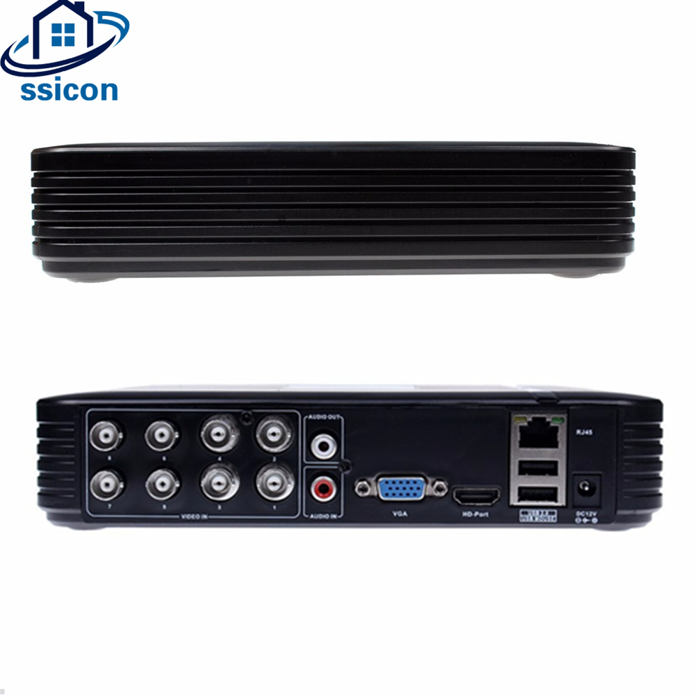 SSICON H.264 AHD CVBS 5 IN 1 AHD 8CH Mini DVR Hybird NVR VGA HDMI Video Output CCTV Video Recorder For 2MP Analog IP CameraSSICON H.264 AHD CVBS 5 IN 1 AHD 8CH Mini DVR Hybird NVR VGA HDMI Video Output CCTV Video Recorder For 2MP Analog IP Camera