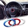 Для BMW X1 X3 X5 X6 E36 E39 E46 E30 E60 E90 E92 F30 F35 Автомобилей Стайлинг Руль Декоративные Круг Крышка Логотип Круглый наклейки