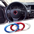 For BMW X1 X3 X5 X6 E36 E39 E46 E30 E60 E90 E92 F30 F35 Car Styling Steering Wheel Decorative Circle Cover Logo Round Stickers