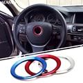 For BMW X1 X3 X5 X6 E36 E39 E46 E30 E60 E90 E92 F30 F35 Car Styling Steering Wheel Decorative Circle Cover Logo Round Stickers