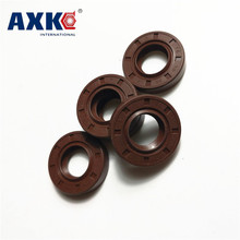 AXK 1PCS  56x80x8 58x75x8/9 Brown Viton FKM Fluorine Rubber Spring Two Lip TC Ring Gasket Radial Shaft Skeleton Oil Seal