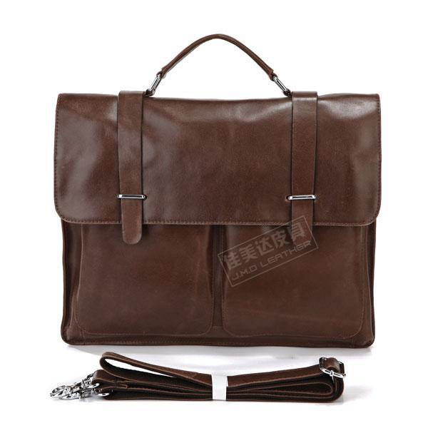 Genuine Leather Fashion vintage classic genuine leather man bag portable briefcase laptop bag messenger bag brown 7100b