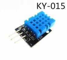 Sensor de temperatura, inteligente, 3pin KY-015 DHT-11 dht11 digital, módulo de sensor de umidade relativa + pcb diy, kit iniciante