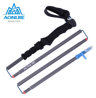 AONIJIE Adjustable Folding Camping Hiking Walking Stick Trekking Aluminum Alloy 4-Section Climbing Ski Trekking Pole