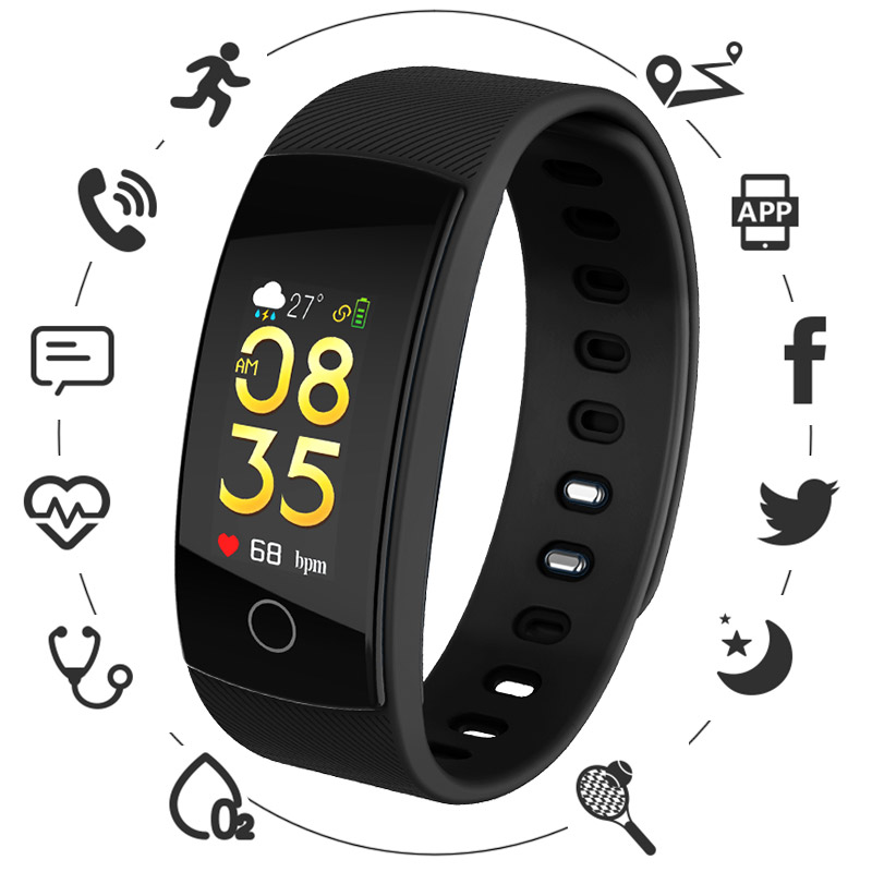 Smart Watches Color Screen Smart Bracelet Wristband Bluetooth Watch For IOS Android phone Message Reminder Sleep Monitoring
