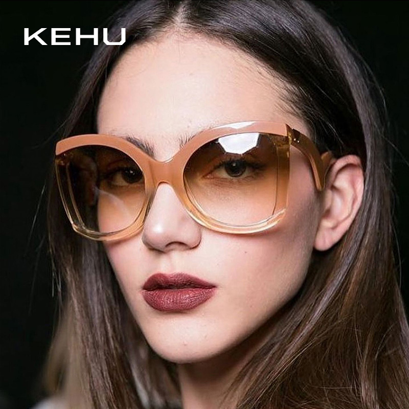 KEHU Sexiness Metal Rivets Frame Women Sunglasses Brand Design New Fashion Women Square Sunglasses Star Fashion Glasses K9302