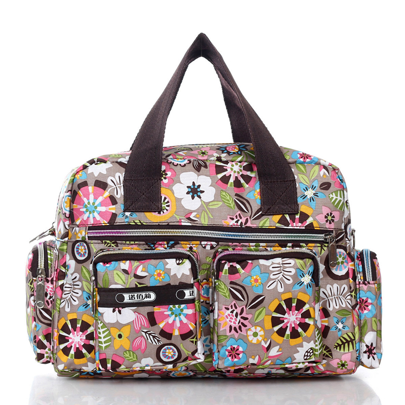 Stylish Printing Casual font b Handbag b font Waterproof Floral Nylon Women Hand held Crossbody Bag