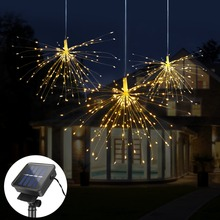 Solar-String-Lights Fireworks Garden-Decoration Outdoor DIY for Bouquet Christmas-Festive
