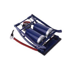Image 3 - Double Twin Barrel Cylinder Air Inflator Foot Pump Car Van Bicycle Bike Tyre