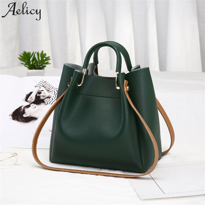 Aelicy Fashion Soft Leather Shoulder Bag Women Metal Handle Small Handbag Open Bags High Qualit Messager Bag Female S30 Сумка