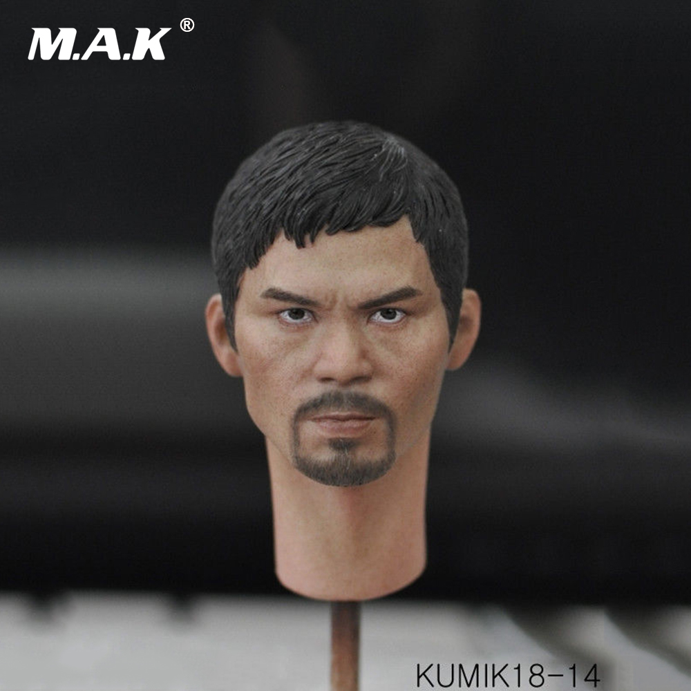 KUMIK18-14 1:6 Scale Figure Accessory Male Head Model Asia Movie Star Man Head for 12 inches Action Figure 1 6 scale male figure body accessory the boxer model for 12 action figure doll not include head body