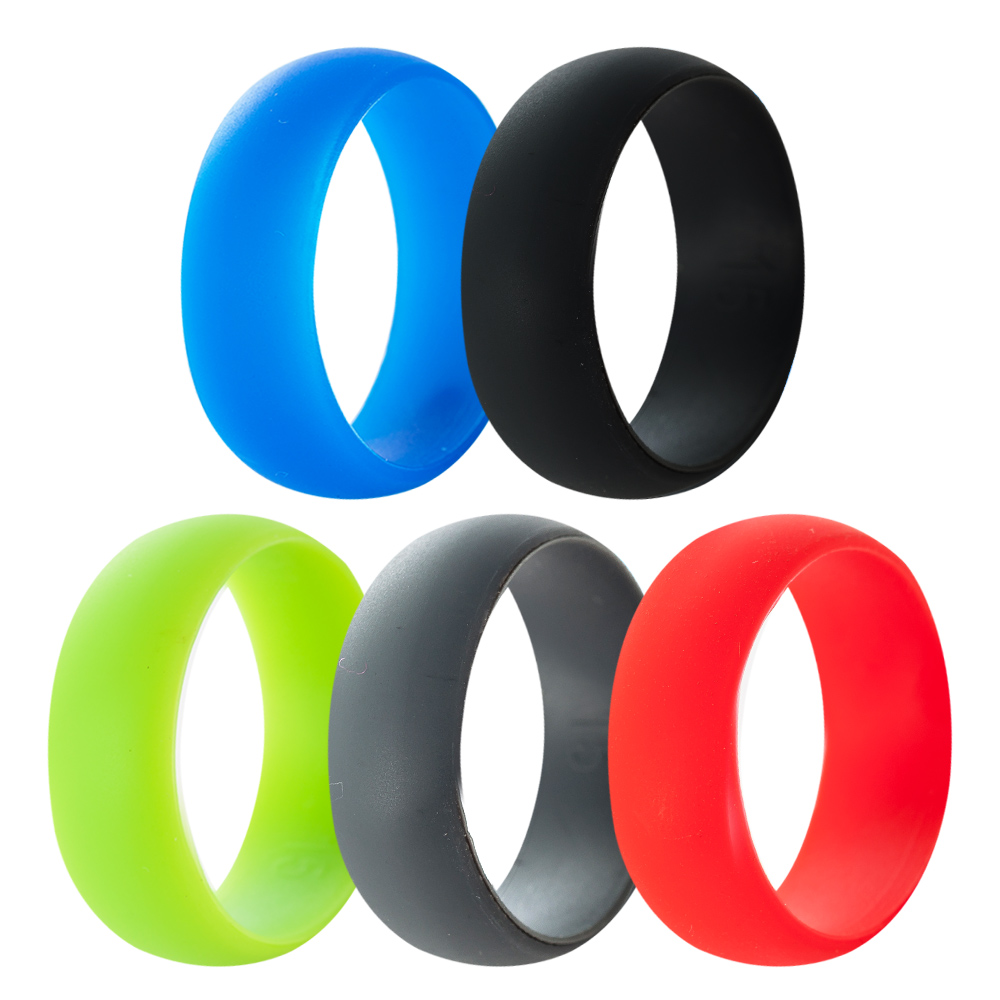 Size 5-15 8MM Hypoallergenic Crossfit Silicone Rubber Flexible Ring Band Wedding Engagement Outdoor Sports Fan Anniversary Party