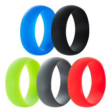 Size 7-15 8MM Multi Color Hypoallergenic Crossfit Silicone Rubber Flexible Ring Band Wedding Engagement